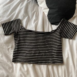 American Apparel Cropped Off the Shoulder Tee